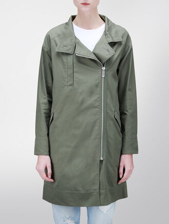 CALVIN KLEIN ZIP-UP PARKA