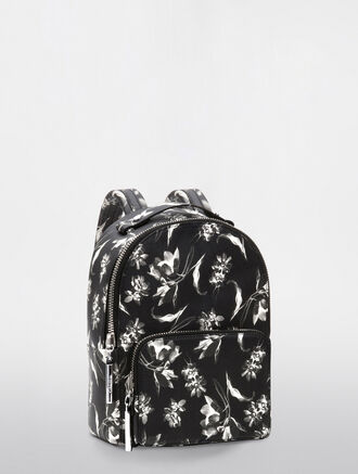 CALVIN KLEIN FLORAL EXPOSURE PRINT MICRO BACKPACK