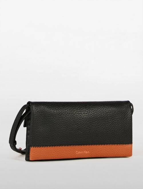 CALVIN KLEIN LONG FOLD WALLET WITH STRAP