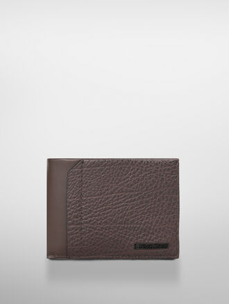 CALVIN KLEIN EXPOSED METAL BILLFOLD WITH PULLOUT CASE