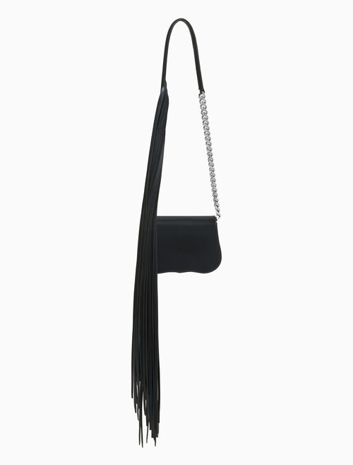 CALVIN KLEIN mini chain clutch with fringe