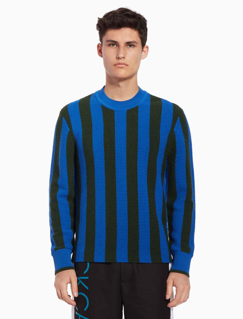 CALVIN KLEIN Striped knit pullover sweater