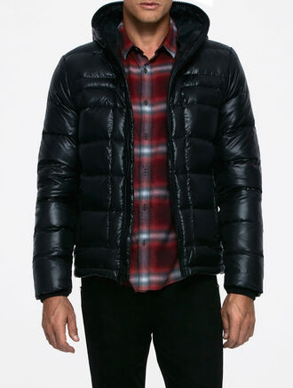 CALVIN KLEIN PRINTED DOWN JACKET