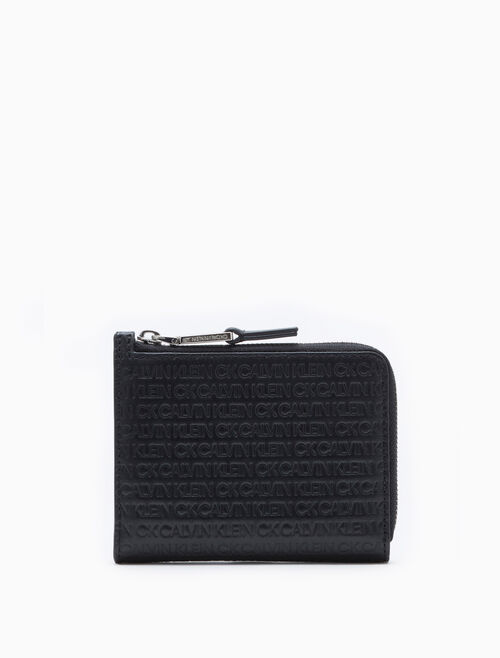 CALVIN KLEIN ALL-OVER LOGO L-ZIP WALLET