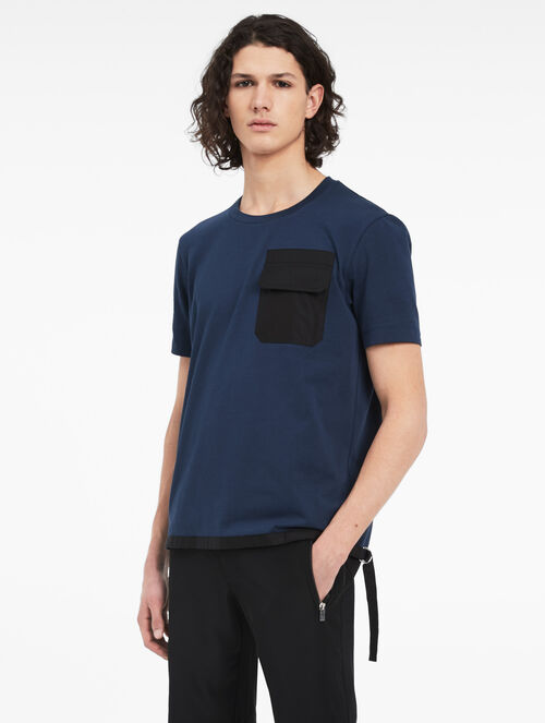 CALVIN KLEIN PIMA COTTON POCKET TOP