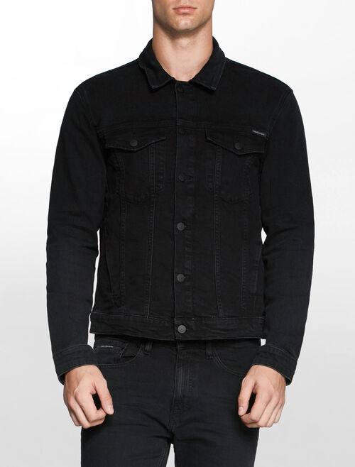 CALVIN KLEIN RICH BLACK CLASSIC DENIM TRUCKER