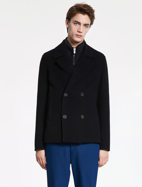 CALVIN KLEIN MILITARY WOOL PEA-COAT - HAND-STITCH