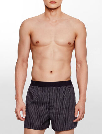 CALVIN KLEIN CK BLACK-COTTON SLIM BOXER