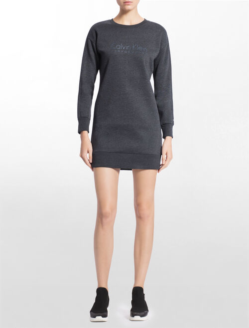 CALVIN KLEIN LOGO SWEAT TUNIC WITH LONG SLEEVES