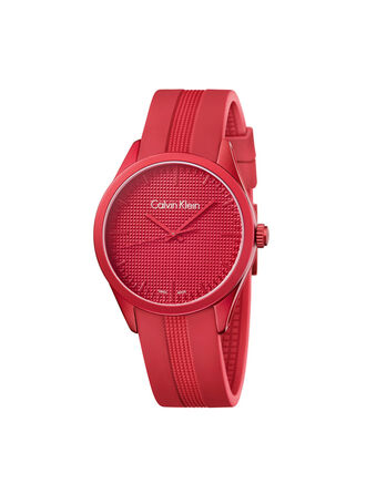 CALVIN KLEIN RED COLOR PERFORMANCE WATCH
