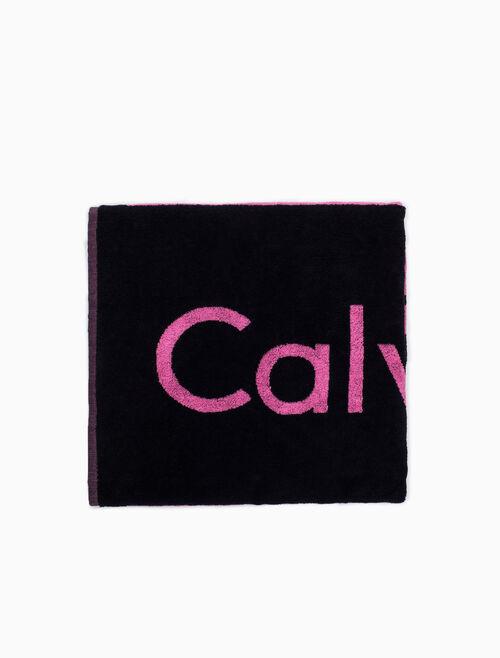CALVIN KLEIN LOGO BEACH TOWEL