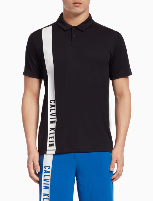 CALVIN KLEIN POLO SHIRT WITH SIDE LOGO STRIPE