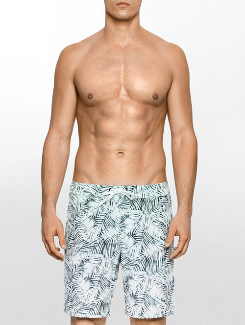 CALVIN KLEIN JUNGLE PRINT MEDIUM DRAWSTRING SWIM SHORTS