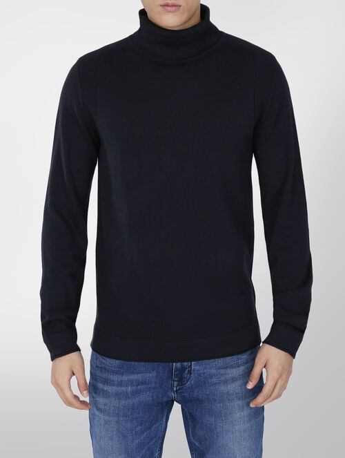 CALVIN KLEIN WOOL TURTLE NECK SWEATER