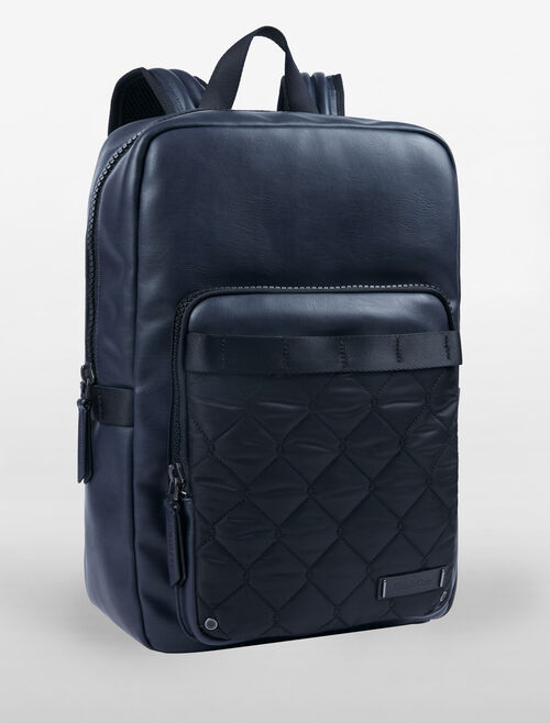 CALVIN KLEIN SPORT QUILT SLIM SQUARE BACKPACK
