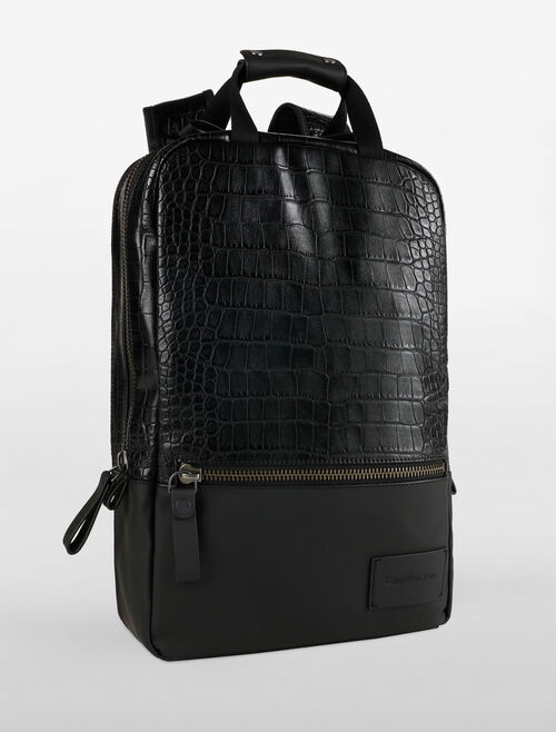 CALVIN KLEIN REPTILE & RUBBER TRAVEL BACKPACK