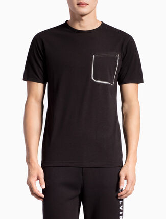 CALVIN KLEIN COTTON HAND SHORT-SLEEVE TEE