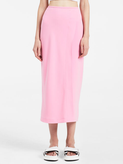 CALVIN KLEIN HEAVY STRETCH CREPE LONG SKIRT
