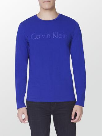 CALVIN KLEIN INSTITUTIONAL LOGO LONG SLEEVES T-SHIRT