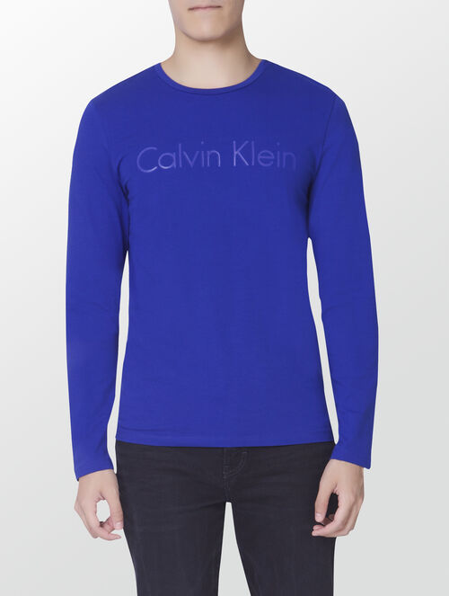 CALVIN KLEIN INSTITUTIONAL LOGO LONG SLEEVES T-SHIRT