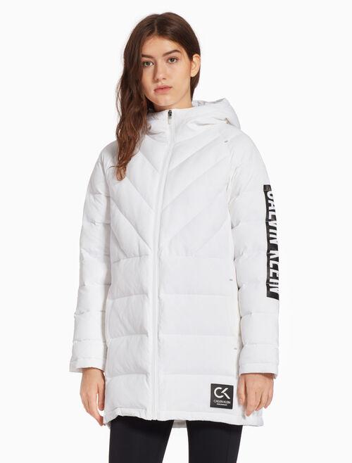 CALVIN KLEIN 우븐 다운 재킷