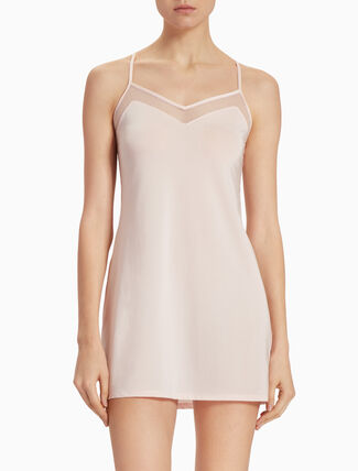 CALVIN KLEIN YOUTHFUL LINGERIE MICRO CHEMISE WITH LACE