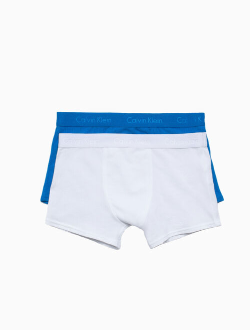 CALVIN KLEIN BOYS 2 PACK LOGO TRUNK