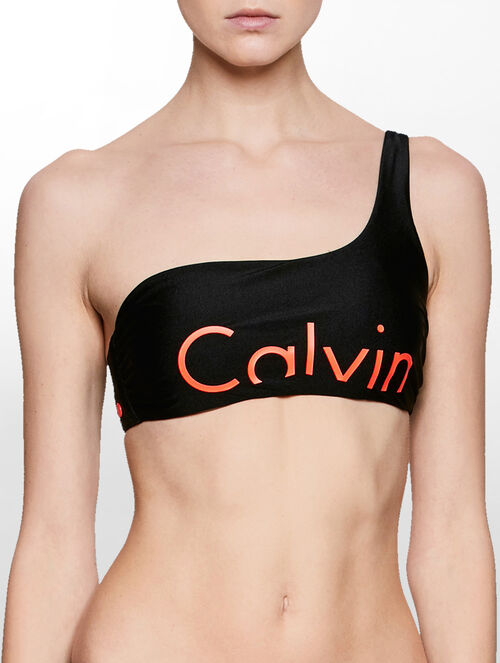 CALVIN KLEIN Bralette Bikini Top - Core Placed Logo