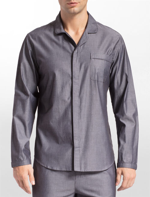 CALVIN KLEIN CK BLACK OBSIDIAN LONG SLEEVE BUTTON DOWN