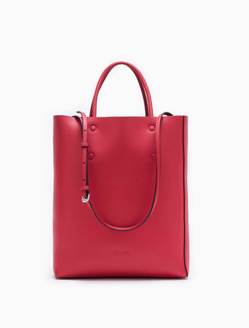 CALVIN KLEIN ENVELOPED SMALL LEAHTER TOTE BAG