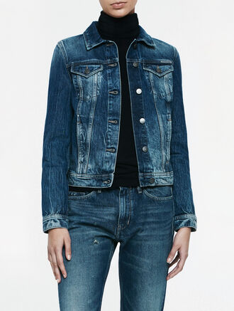 CALVIN KLEIN AMPLIFIED INDIGO JET TRUCKER