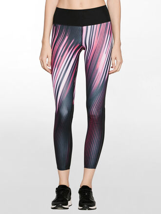 CALVIN KLEIN FULL LENGTH HIGH RISE LEGGING WITH MESH DETAILS