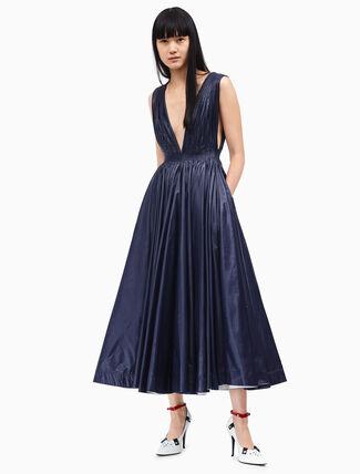 CALVIN KLEIN deep v-neck couture tent dress