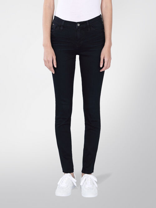 CALVIN KLEIN HIGH RISE SKINNY JEANS - STORM BLACK