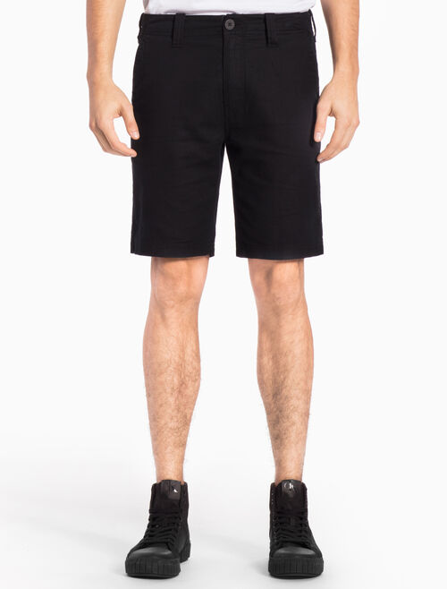 CALVIN KLEIN COTTON LINEN BLEND STRAIGHT SHORTS
