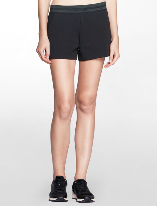 CALVIN KLEIN PERFORATED WAISTBAND SWEAT SHORTS