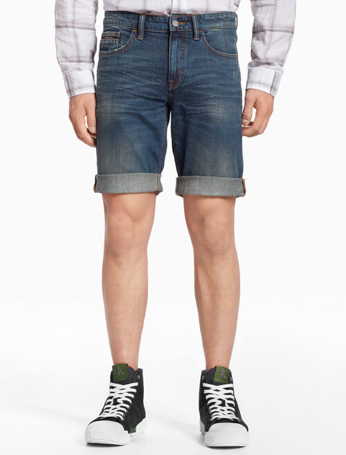 CALVIN KLEIN SLIM DENIM SHORTS