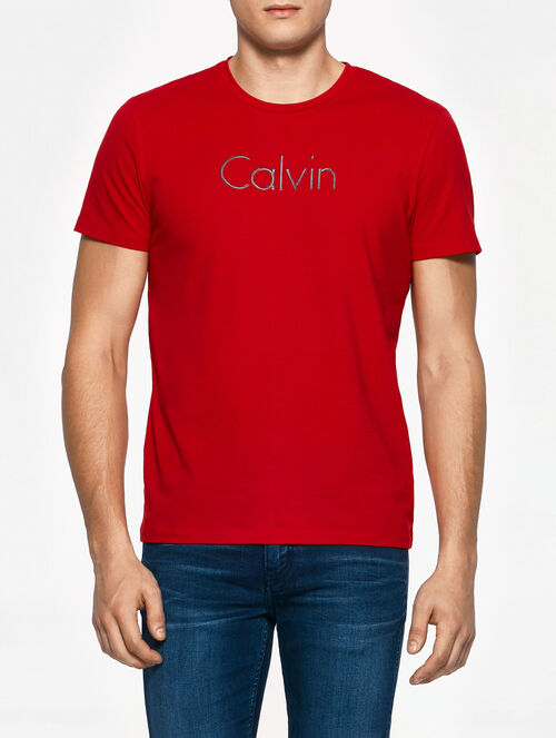 CALVIN KLEIN INSTITUTIONAL LOGO SHORT SLEEVES T-SHIRT