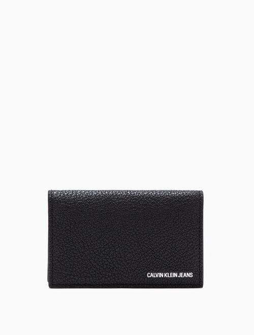 CALVIN KLEIN CARD CASE WITH COIN CASE