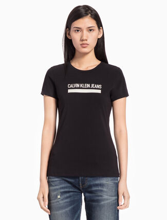 CALVIN KLEIN INSTITUTION LOGO SHORT SLEEVE TEE