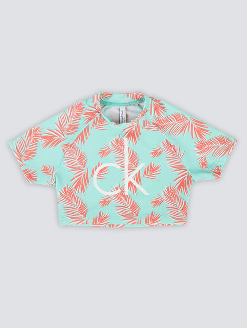 CALVIN KLEIN GIRLS X MERCH RASH GUARD SHIRT CRO