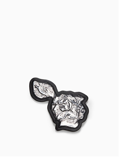 CALVIN KLEIN medium metal rose brooch