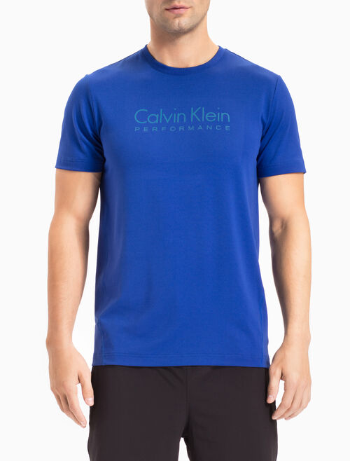 CALVIN KLEIN LOGO TEE WITH SHORT SLEEVES