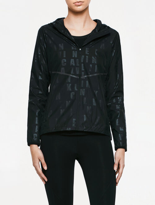 CALVIN KLEIN AOP PACKABLE WIND JACKET
