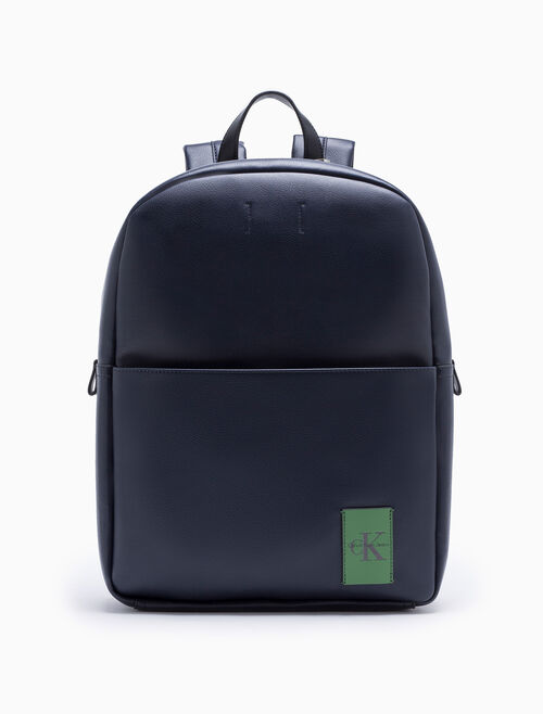 CALVIN KLEIN COATED CANVAS CAMPUS BACKPACK