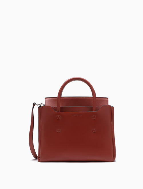 CALVIN KLEIN FOLDED SMALL CARRYALL TOTE