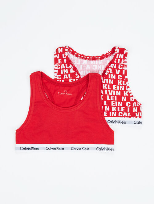 CALVIN KLEIN MODERN COTTON BRALETTE - GIRLS 2 PACKS