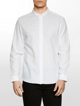 CALVIN KLEIN ファッションカラー リネンシャツ