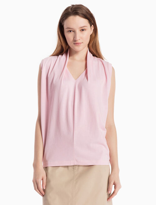 CALVIN KLEIN KNITTED DRAPED BLOUSE