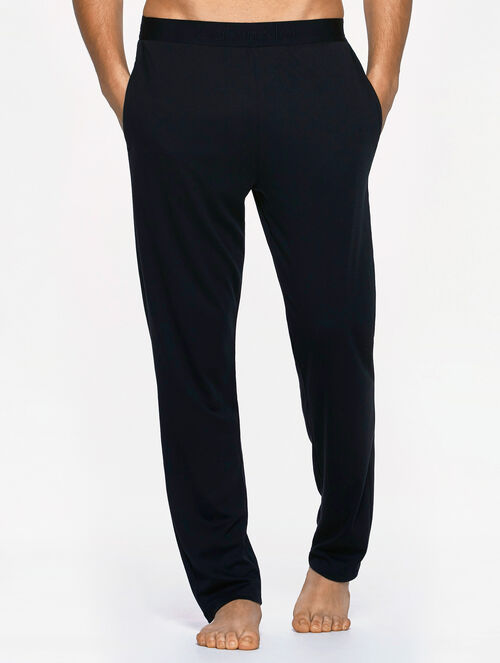 CALVIN KLEIN CK BLACK PAJAMA SET - COTTON INTERLOCK SLEEP PANTS